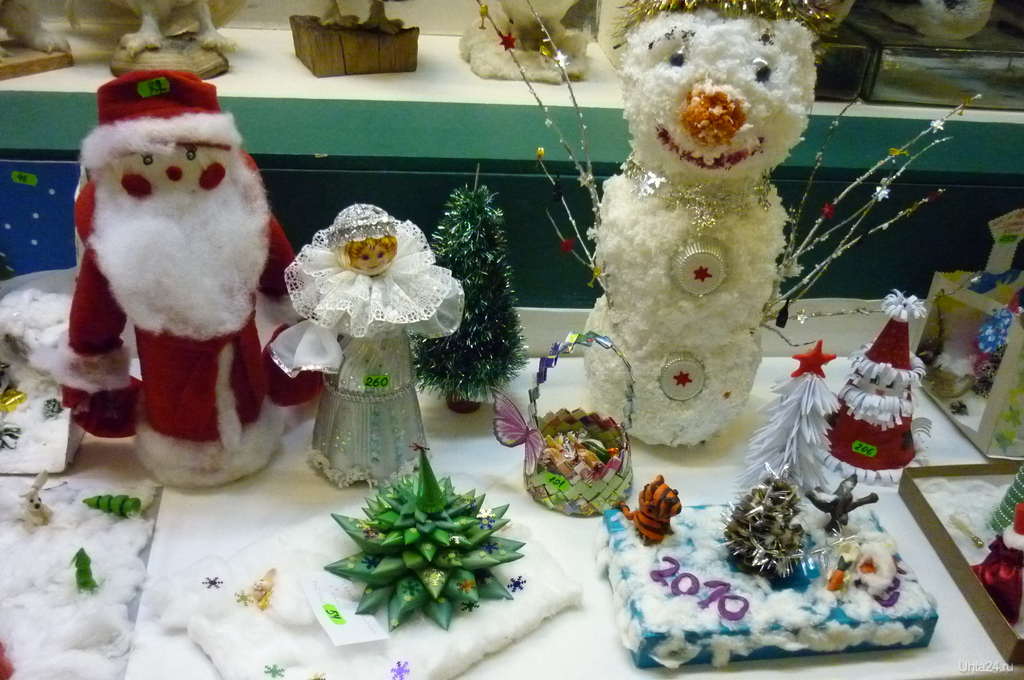 Новогодние игрушки своими руками на выставку